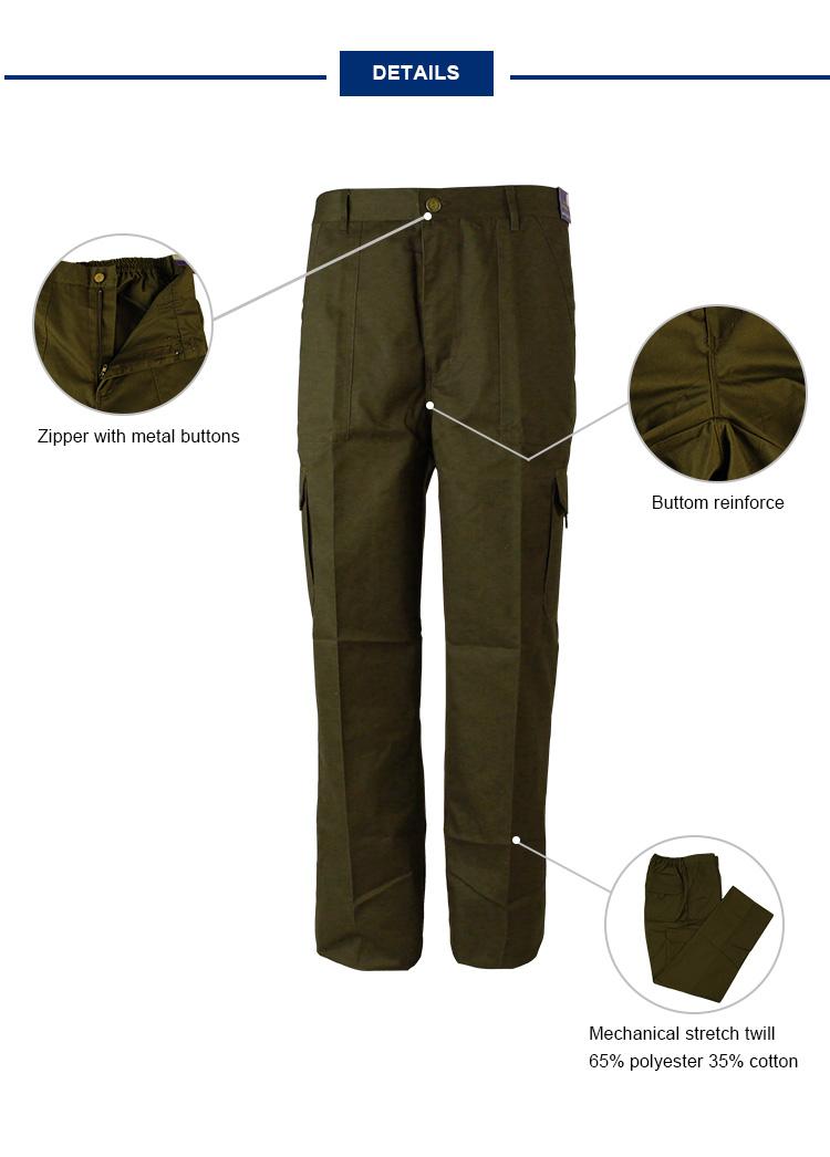Men Canvas Fabric Workwear Pants