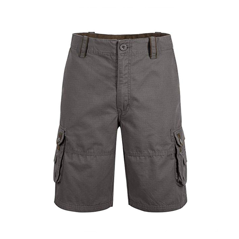 Men Straight Leg Cargo Shorts
